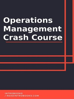 cover image of Operations Managament Crash Course