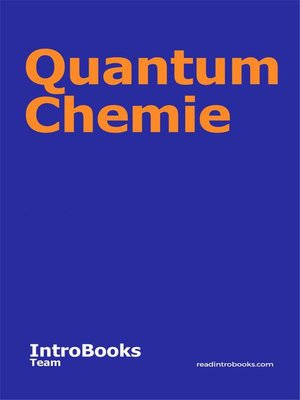 cover image of Quantum Chemie