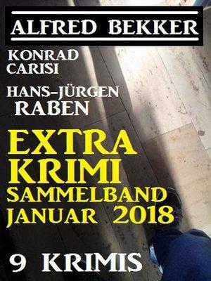 cover image of Extra Krimi Sammelband Januar 2018