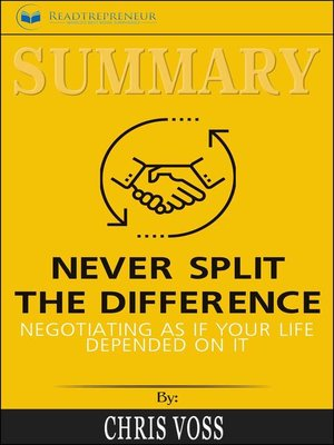 cover image of Summary of Never Split the Difference