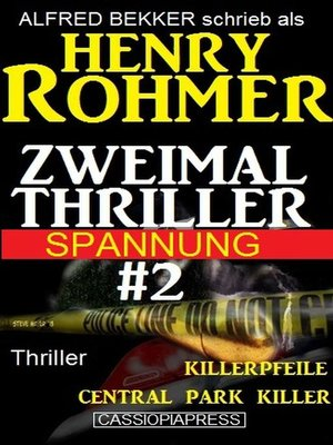 cover image of Zweimal Thriller Spannung #2