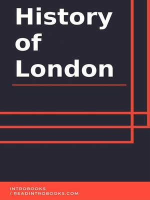 cover image of History of London