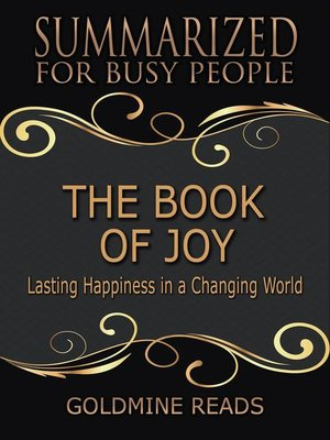 cover image of The Book of Joy--Summarized for Busy People