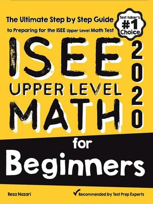 cover image of ISEE Upper Level Math for Beginners