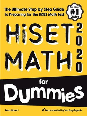 cover image of HiSET Math for Dummies