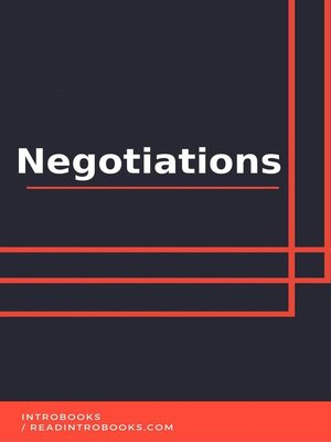 cover image of Negotiations