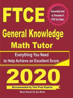 cover image of FTCE General Knowledge Math Tutor