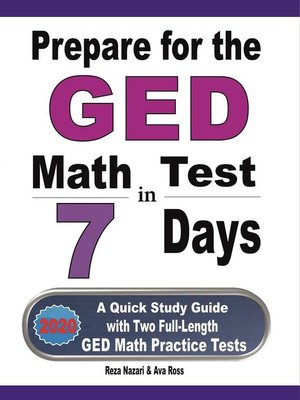 cover image of Prepare for the GED Math Test in 7 Days