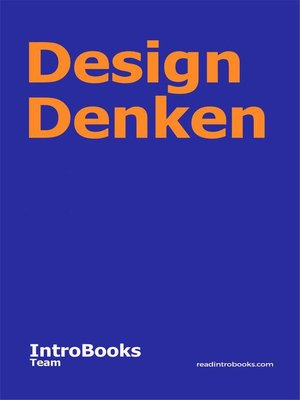 cover image of Design Denken