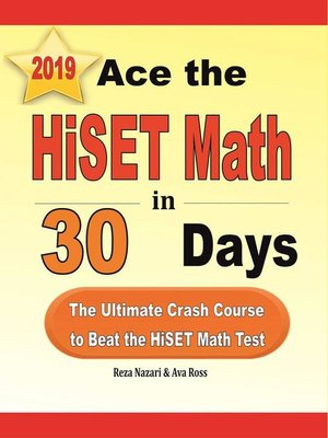 cover image of Ace the HiSET Math in 30 Days