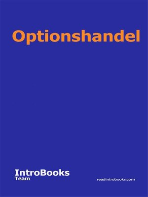 cover image of Optionshandel