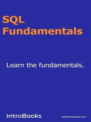 cover image of SQL Fundamentals