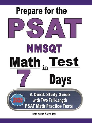 cover image of Prepare for the PSAT / NMSQT Math Test in 7 Days