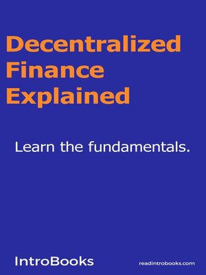 cover image of Decentralized Finance Explained