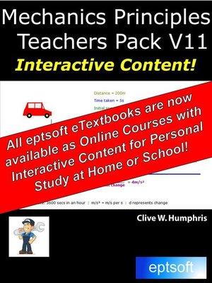 cover image of Mechanics Principles Teachers Pack V11
