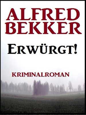 cover image of Erwürgt! Kriminalroman