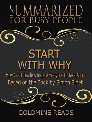 cover image of Start With Why--Summarized for Busy People