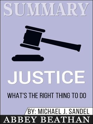 cover image of Summary of Justice