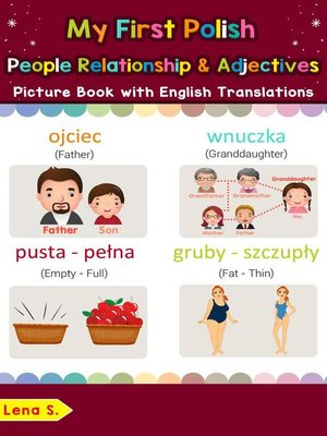 cover image of My First Polish People, Relationships & Adjectives Picture Book with English Translations