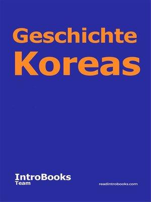 cover image of Geschichte Koreas