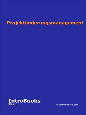 cover image of Projektänderungsmanagement