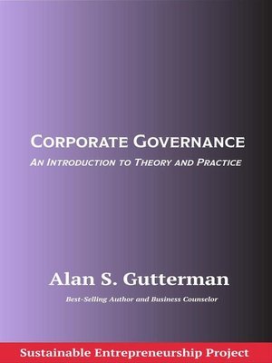cover image of Corporate Governance