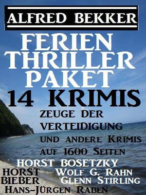 cover image of Ferien Thriller Paket 14 Krimis