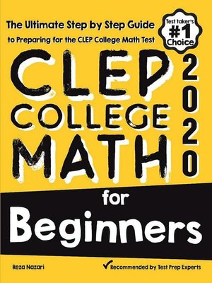 cover image of CLEP College Math for Beginners