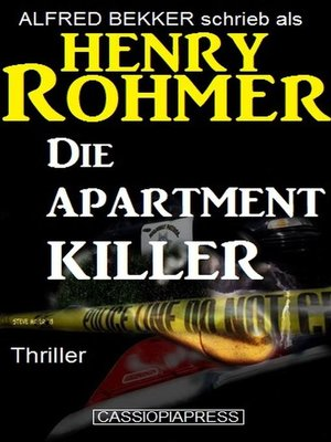 cover image of Die Apartment-Killer