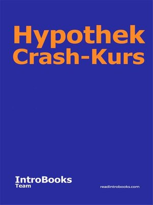 cover image of Hypothek Crash-Kurs