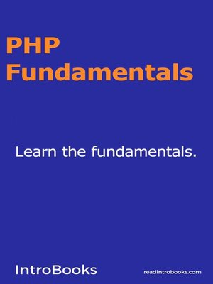 cover image of PHP Fundamentals