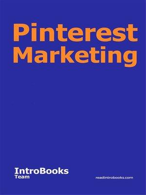 cover image of Pinterest Marketing