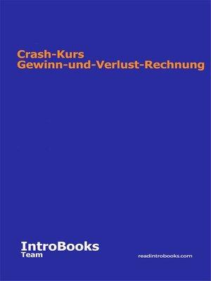 cover image of Crash-Kurs Gewinn-und-Verlust-Rechnung