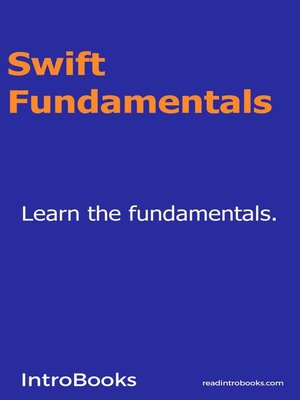 cover image of Swift Fundamentals