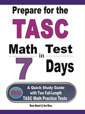 cover image of Prepare for the TASC Math Test in 7 Days