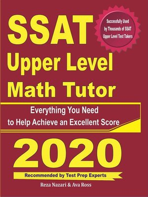 cover image of SSAT Upper Level Math Tutor