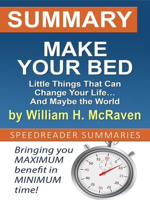 cover image of Summary of Make Your Bed