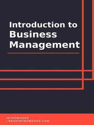 cover image of Introduction to Business Management