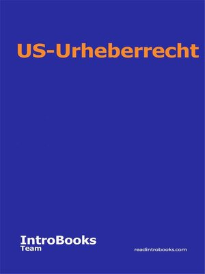 cover image of US-Urheberrecht