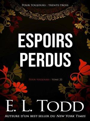 cover image of Espoirs perdus