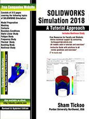 cover image of SOLIDWORKS Simulation 2018