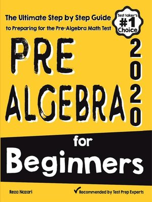 cover image of Pre-Algebra for Beginners