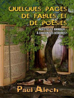cover image of Quelques pages... de fables et de poésies