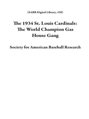 cover image of The 1934 St. Louis Cardinals