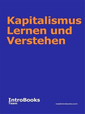 cover image of Kapitalismus Lernen und Verstehen