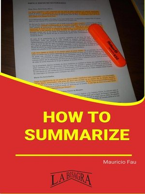cover image of How to Summarize