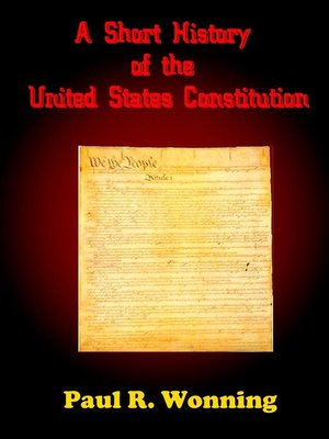 cover image of A Short History of the United States Constitution