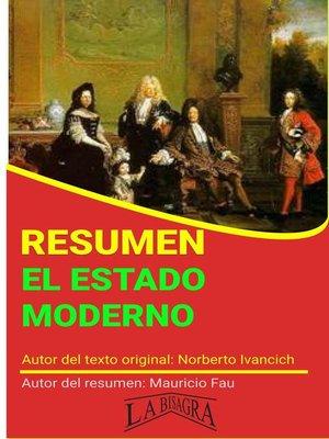 cover image of Resumen de El Estado Moderno