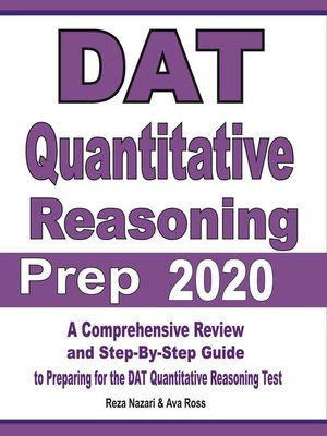 cover image of DAT Quantitative Reasoning Prep 2020