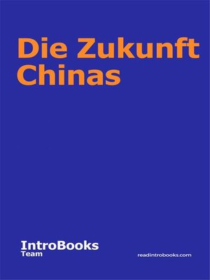 cover image of Die Zukunft Chinas